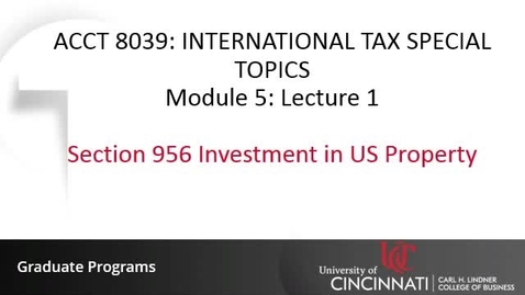 Thumbnail for entry Section 956 Investment in US Property