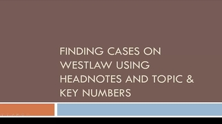finding cases by headnote researching case law research guides