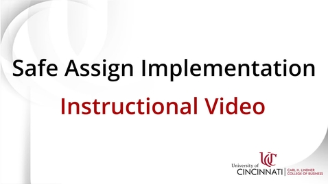 Thumbnail for entry Safe Assign Implemenation Guide