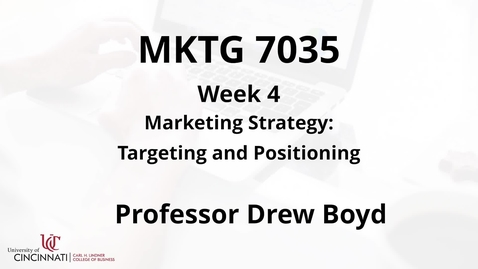 Thumbnail for entry Targeting and Positioning