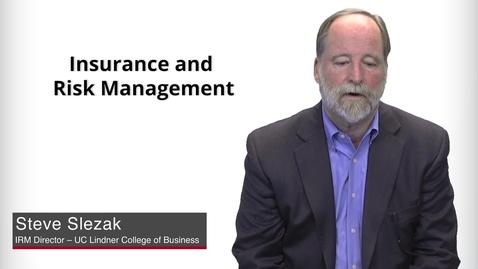 Thumbnail for entry Program Presentation - Insurance & Risk Management Worksheet