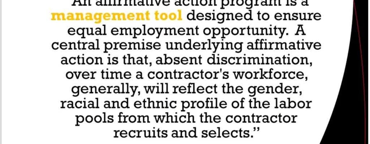 Affirmative Action Part 2 12.12.16 SuccessFactors Ask-the-Expert