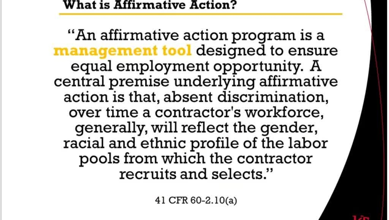 Affirmative Action Part 2 12.12.16 SuccessFactors Ask-the-Expert