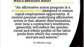 Thumbnail for entry Affirmative Action Part 2 12.12.16 SuccessFactors Ask-the-Expert