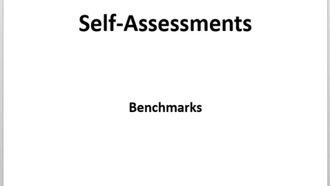 Thumbnail for entry Self Assessments - Intro