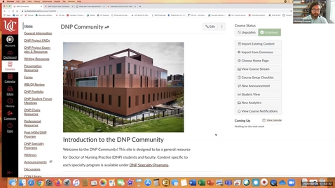 """Thumbnail for entry """"Use of a Community Site in Canvas to Foster Faculty-Student Engagement and Success of the Distance Learning Doctoral Student"""" - Mandi Cafasso & Keeley Harding"""