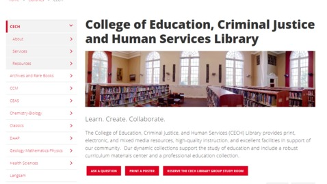 Thumbnail for entry Finding the CECH Library Website and Research Guides