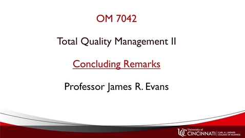 Thumbnail for entry OM742 Concluding Remarks