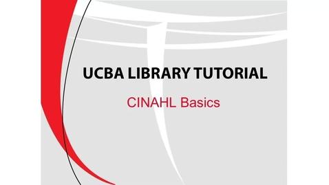 Thumbnail for entry CINAHL Basics (UCBA)