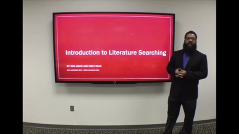 Thumbnail for entry Health Sciences Library: Introduction to Literature Searching