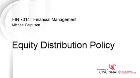 Thumbnail for entry Equity Distribution Policy