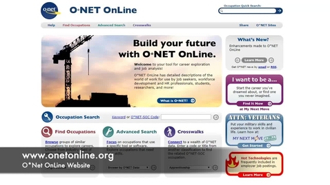 Thumbnail for entry ONet OnLine Tutorial