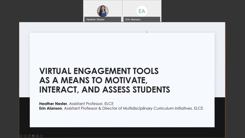 Thumbnail for entry Virtual Engagement Tools as a Means to Motivate, Interact, and Assess Students