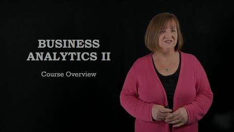 Thumbnail for entry BANA 2082: Business Analytics II