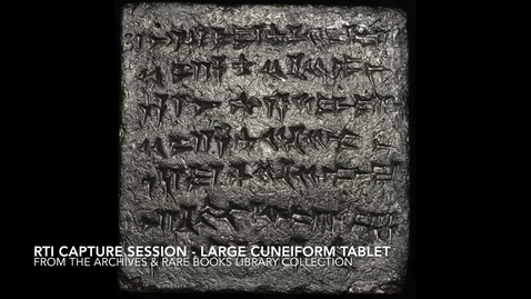 Thumbnail for entry RTI Capture Session - Large Cuneiform Tablet