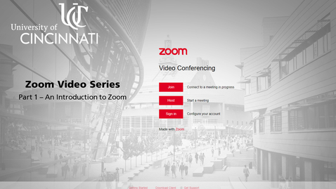 Thumbnail for entry Zoom Video Series | Part 1 - An Introduction to Zoom at UC