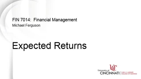 Thumbnail for entry Expected Returns