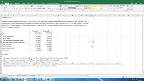Thumbnail for entry Prof lead Prob 24-2B 7012 solution
