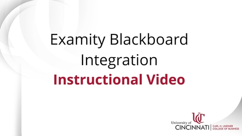 Thumbnail for entry Examity Blackboard Integration Guide