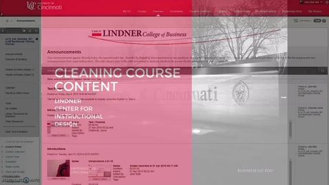 Thumbnail for entry Cleaning Course Content