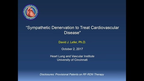 Thumbnail for entry 2017-10-02 12.02 UC Heart, Lung and Vascular Institute_ Seminar Series 2017-18