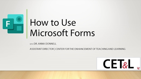 Thumbnail for entry How to Use Microsoft Forms