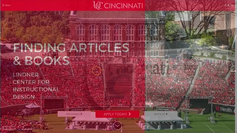 Thumbnail for entry Finding Articles and Books