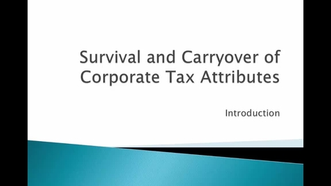 Thumbnail for entry Tax Attributes