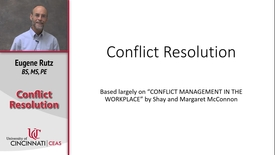Thumbnail for entry Conflict Resolution