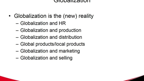 Thumbnail for entry MGMT 7017 Globalization