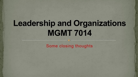 Thumbnail for entry MGMT 7014 On-line Katerberg's Parting Points