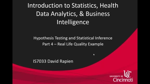 Thumbnail for entry IS7033-Rapien-L3-08-Hypothesis Testing and Statistical Inference - Part 4.mp4