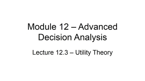 Thumbnail for entry BANA 2082 White L12-3 Utility Theory