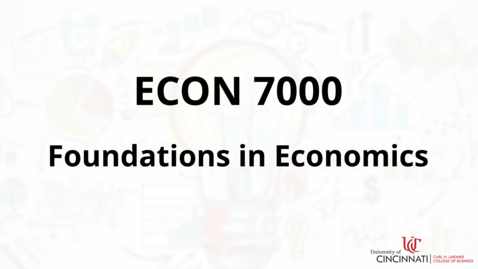 Thumbnail for entry Econ 7000 Course Introduction
