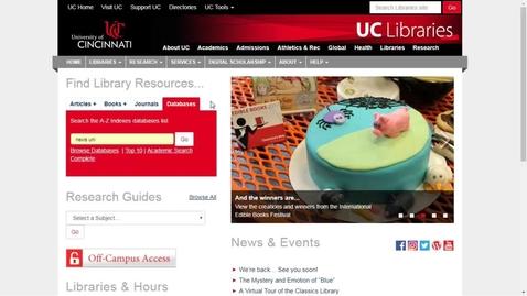 Thumbnail for entry Nexis Uni Introduction