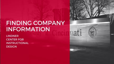 Thumbnail for entry Finding Company Information