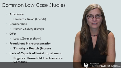 Thumbnail for entry BLAW2080 Common Law Contract Cases 2018 Part 2