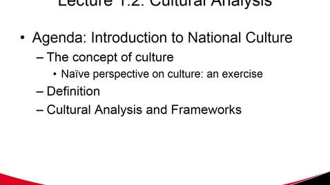 Thumbnail for entry National Culture