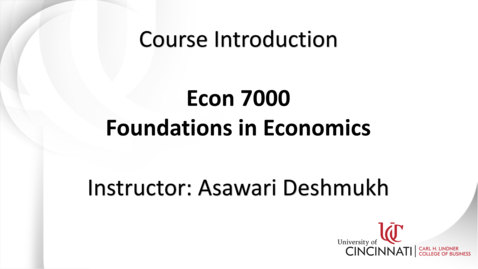 Thumbnail for entry ECON 7000: Foundations in Economics