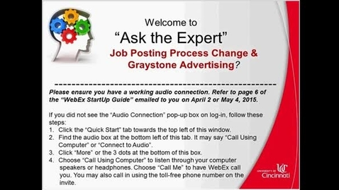 Thumbnail for entry GrayStone Advertising: SuccessFactors Ask the-Expert