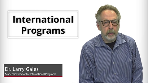 Thumbnail for entry Program Presentations - International Programs
