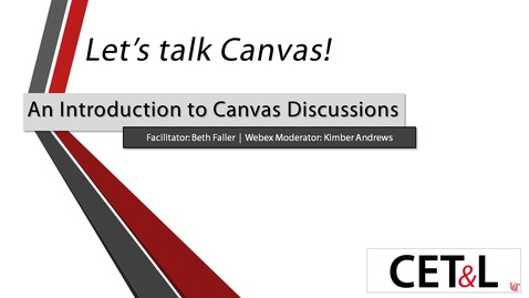 Thumbnail for entry Beth Faller - An Introduction to Canvas Discussions | Friday 6/5
