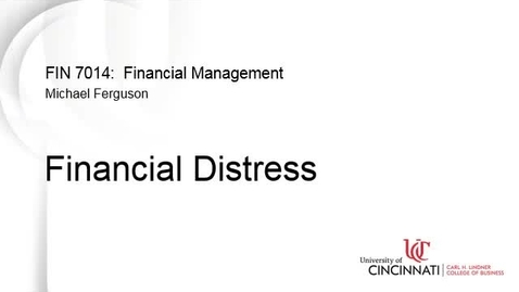 Thumbnail for entry Financial Distress