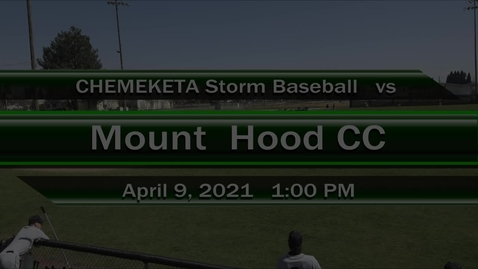 Thumbnail for entry 04-09-21 - Men's Baseball vs Mt Hood