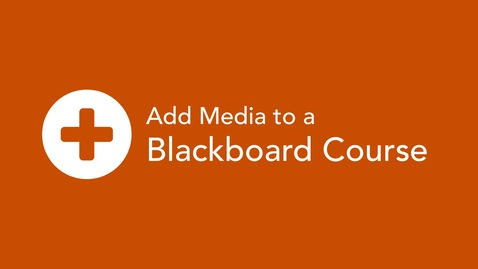 Add Media to a Blackboard Course