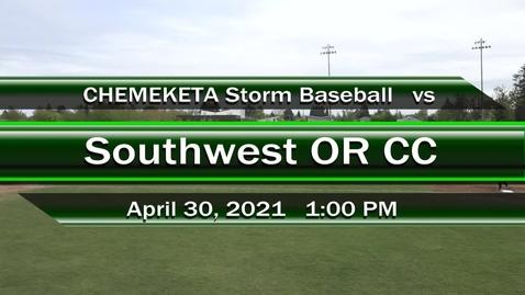 Thumbnail for entry 04-30-21 - Men's Baseball vs SWOCC