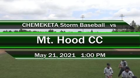 Thumbnail for entry 05-21-21 - Men's Baseball vs Mt Hood CC