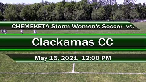 Thumbnail for entry 05-15-21 - Women's Soccer vs Clackamas CC
