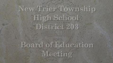 Thumbnail for entry NTHS Board of Ed Mtg 11-20-2017