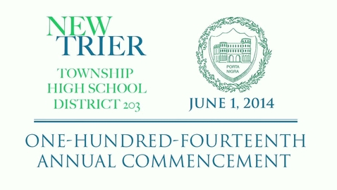 New Trier Township High School Commencement 2014